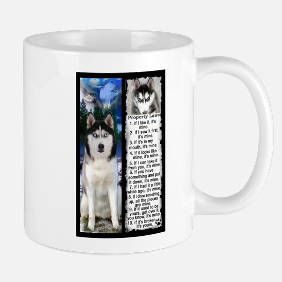 Siberian Husky Dog Laws Rules Mugs