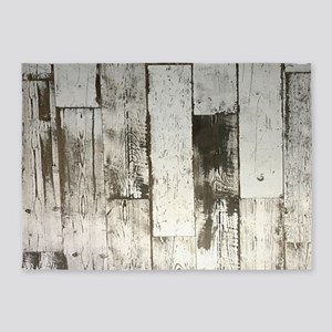 shabby chic whitewash wood 5'x7'Area Rug
