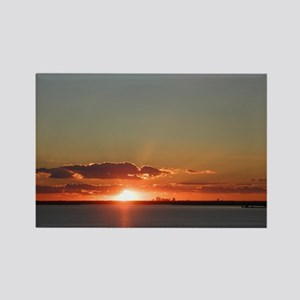 Texas Sunset Rectangle Magnet