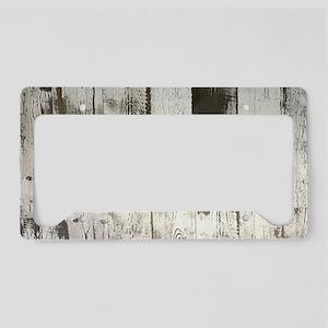 shabby chic whitewash wood License Plate Holder