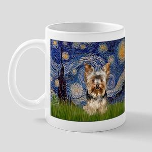 Starry Night & Yorkie 17 Mug