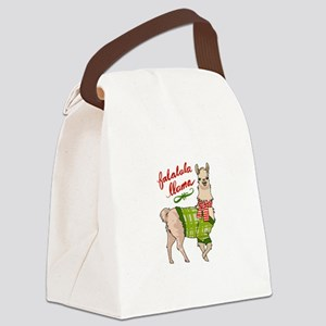 Falalala Llama Canvas Lunch Bag