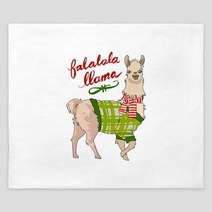 Falalala Llama King Duvet