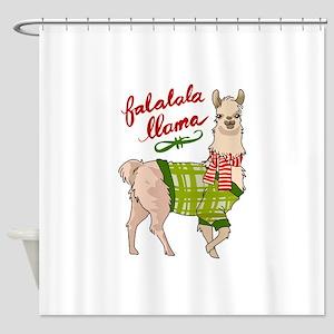 Falalala Llama Shower Curtain