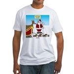 Wiener Dog Sleigh Fitted T-Shirt