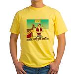Wiener Dog Sleigh Yellow T-Shirt