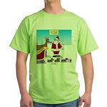 Wiener Dog Sleigh Green T-Shirt