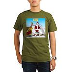 Wiener Dog Sleigh Organic Men's T-Shirt (dark)