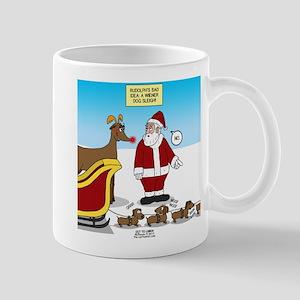 Wiener Dog Sleigh 11 oz Ceramic Mug