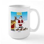 Wiener Dog Sleigh 15 oz Ceramic Large Mug