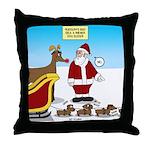 Wiener Dog Sleigh Throw Pillow