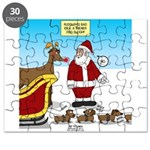 Wiener Dog Sleigh Puzzle