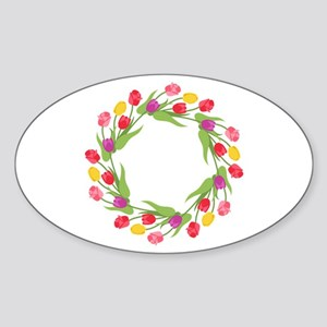 Tulips Wreath Sticker