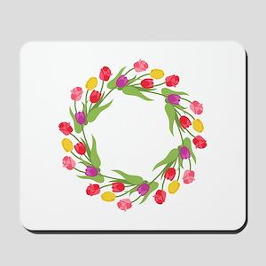 Tulips Wreath Mousepad