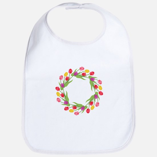 Tulips Wreath Bib
