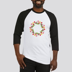 Tulips Wreath Baseball Jersey