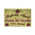 Over 30 Years Rectangle Magnet (100 pack)