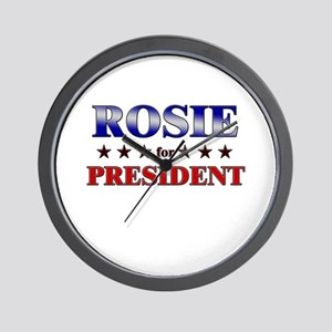 ROSIE for president Wall Clock