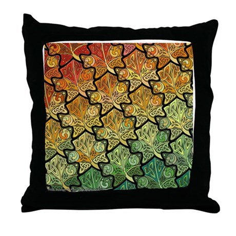 Celtic Leaf Transformation Throw Pillow