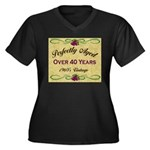 Over 40 Years Women's Plus Size V-Neck Dark T-Shir