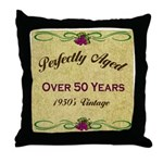 Over 50 Years Throw Pillow