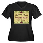 Over 50 Years Women's Plus Size V-Neck Dark T-Shir