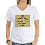 Over 60 Years Women's V-Neck T-Shirt