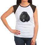Shadow, Standard Poodle Women's Cap Sleeve T-Shirt