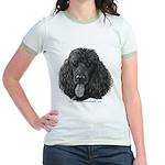 Shadow, Standard Poodle Jr. Ringer T-Shirt
