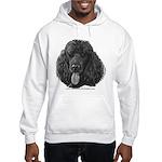 Shadow, Standard Poodle Hooded Sweatshirt