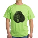 Shadow, Standard Poodle Green T-Shirt