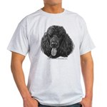 Shadow, Standard Poodle Light T-Shirt