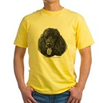 Shadow, Standard Poodle Yellow T-Shirt