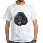 Shadow, Standard Poodle White T-Shirt