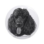 Shadow, Standard Poodle Ornament (Round)