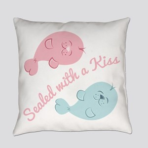 With A Kiss Everyday Pillow
