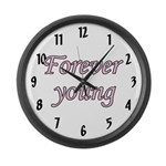 Forever Young Large Wall Clock