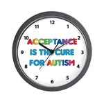 Autism Acceptance Wall Clock