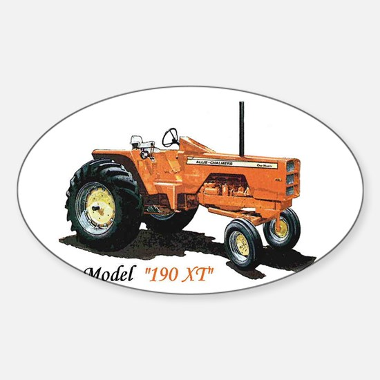 Antique Tractors Oval Decal