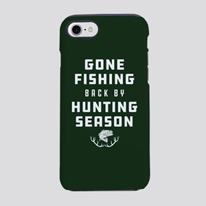 Gone Fishing Back By Hunting iPhone 8/7 Tough Case