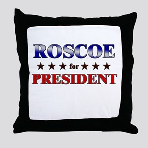ROSCOE for president Throw Pillow