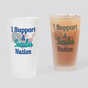 Secular Nation Drinking Glass