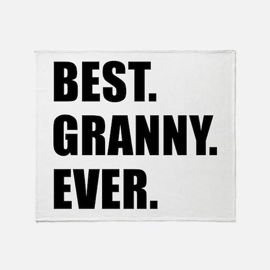 Best Granny Ever Drinkware Throw Blanket