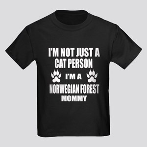 I'm a Norwegian Forest Cat Mommy Kids Dark T-Shirt