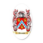 Weisshof Oval Car Magnet