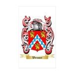 Weisser Sticker (Rectangle 10 pk)