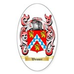 Weisser Sticker (Oval 50 pk)