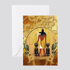 Anubis the god Greeting Cards