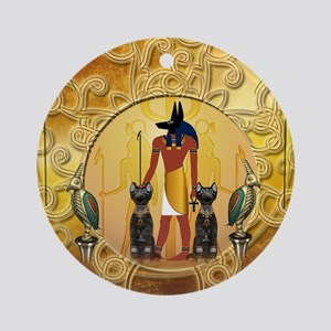 Anubis the god Round Ornament