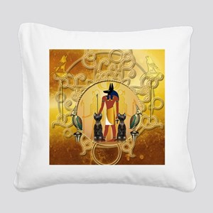 Anubis the god Square Canvas Pillow